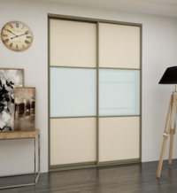 Дверь-купе ЛДСП + стекло