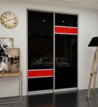 Дверь-купе со стеклом (Red/Black)