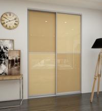 Дверь-купе со стеклом (Light Brown/Beige)