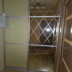Дверь Зеркало с узором + Стекло с пленкой