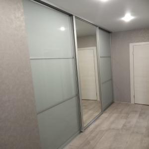 Дверь Матовое стекло + Зеркало