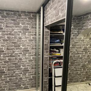 Дверь Зеркало серебро